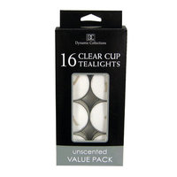 Home Locomotion 16Pk Clear Cup Tealights White