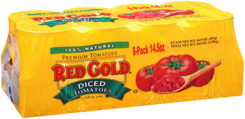 Red Gold® Diced Tomatoes 8-14.5 oz. Cans