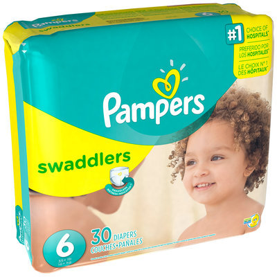 Premium Pampers Swaddlers Diaper Size 6 Mega Pack 30 Count