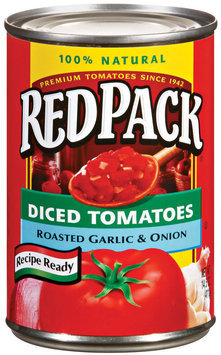 RedPack Diced Tomatoes Roasted Garlic & Onion 14.5 oz Can