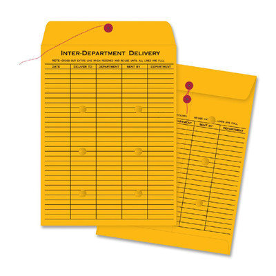 Business Source 42255 Envelopes Interdepartmental Two-sided 10inx13in 100/CT Kraft