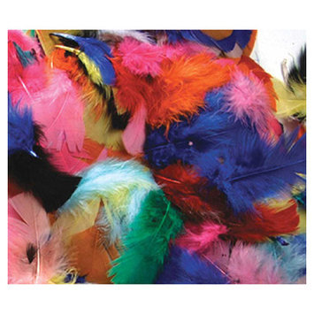 CHENILLE KRAFT COMPANY CK-450002 FEATHERS HOT COLORS