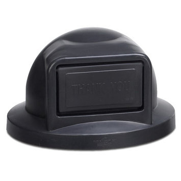 Anova Plastic Dome Top with Push Door Opening for 32 Gallon Receptacle Color: Green