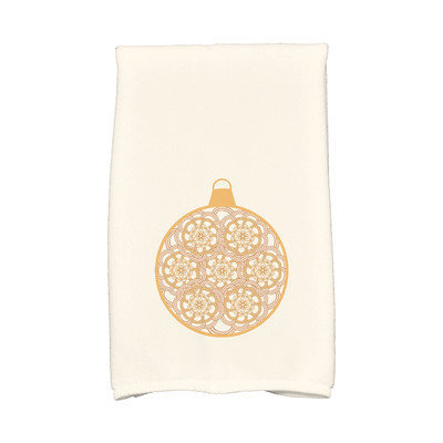 E By Design Holiday Wishes Snowflake Bulb Hand Towel Color: Gold
