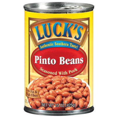 Lucks Seasoned W/Pork Pinto Beans 15 Oz Can