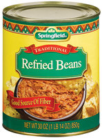Springfield Traditional  Refried Beans 30 Oz Can