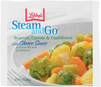 Libby's® Steam & Go® Broccoli, Carrots & Cauliflower with Cheese Sauce 12 oz.