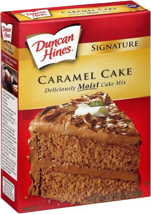 Duncan Hines Cake Mix Box
