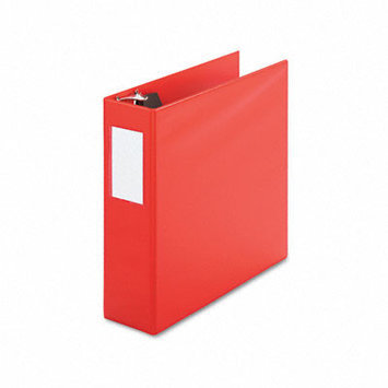 Universal Products UNIVERSAL OFFICE PRODUCTS 20708 D-ring Binder With Label Holder 4 Capacity Red