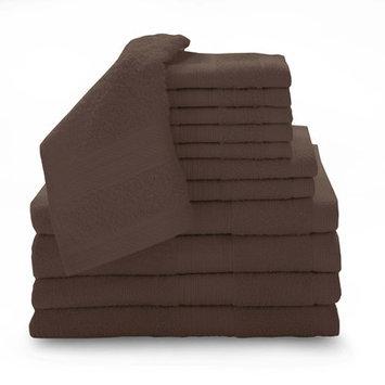 Luxury Home 12 Piece Super Plush Egyptian Cotton Towel Set, Espresso