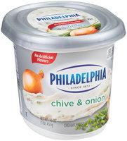 Philadelphia Chive & Onion Cream Cheese Spread 16 oz. Tub