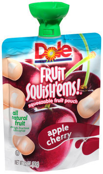 Dole Fruit Squish'ems! Apple Cherry Squeezable Fruit Pouch