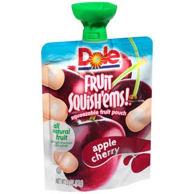 Dole Fruit Squish'ems! Apple Cherry Squeezable Fruit Pouch