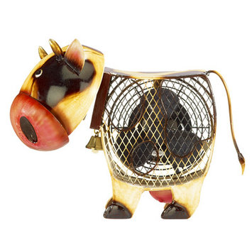 Decoflair Figurine Country Cow Fan