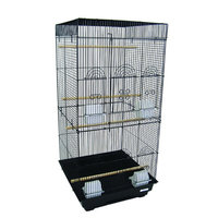 Yml Tall Square Top Small Bird Cage - Color: Black