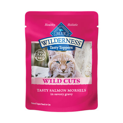 THE BLUE BUFFALO CO. BLUE™ Wilderness® Wild Cuts Tasty Toppers Tasty Salmon Morsels in Savory Gravy