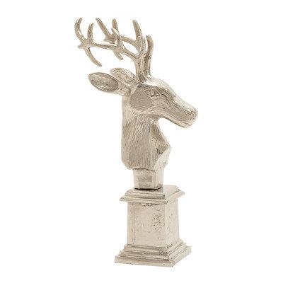 Benzara 16488 Aluminum Reindeer Bust