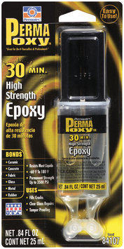 Permatex® PermaPoxy™ 84107 30 Minute High Strength Carded General Purpose Epoxy .84 fl. oz. Dual Syringe