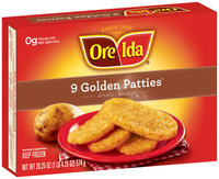 Ore-Ida Golden Patties 9 Ct Shredded Potatoes 20.25 Oz Box
