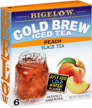 Bigelow® Cold Brew Iced Tea Peach Black Tea 6 ct Box