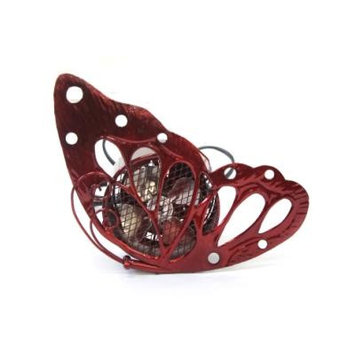 Exhart 8-Inch Cool Winds Butterfly Fan Red