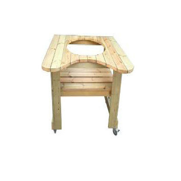 Rta Home And Office Kahuna Grills Wooden Table for 18 in. Kamado Grill
