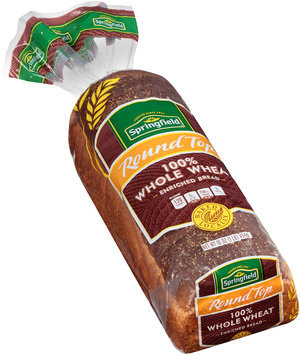 Springfield® Round Top 100% Whole Wheat Bread 16 oz. Bag