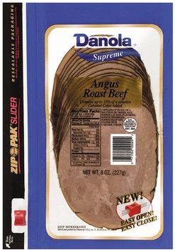 Danola Supreme Angus Sliced Roast Beef 8 Oz Zip Pak