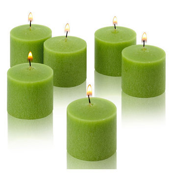 Light In The Dark Candles 10 Hour Lime Green Unscented Votive Candle (Set of 36) LITD-LG-V1036