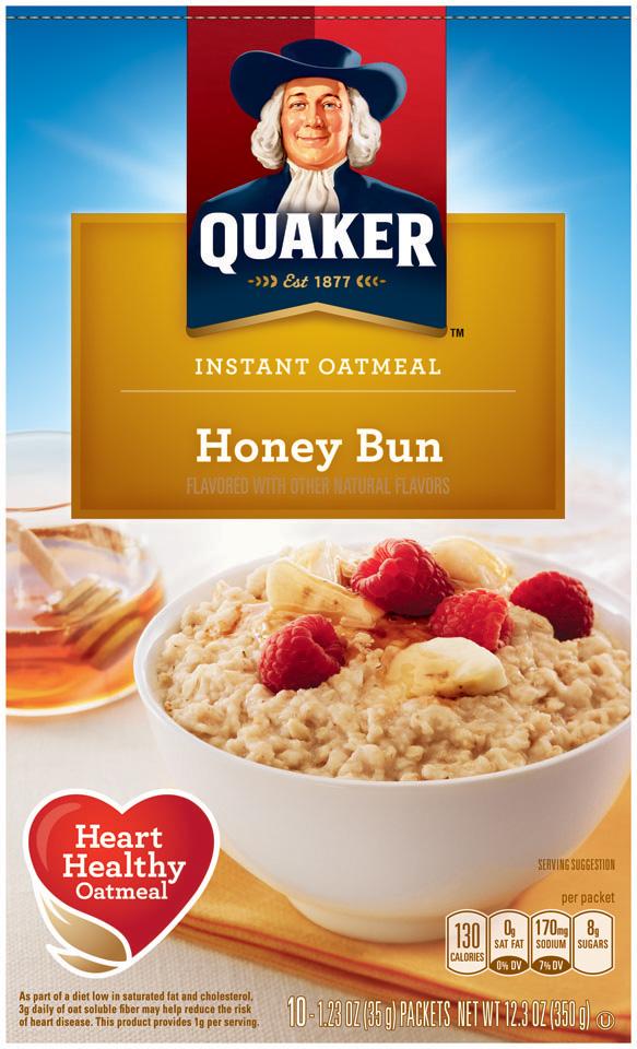 Quaker® Oatmeal Honey Bun Instant Oatmeal