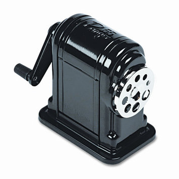 X-ACTO TABLE-MOUNT/WALL-MOUNT MANUAL PENCIL SHARPENER, BLACK