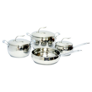 American Trading House, Inc. Gourmet Chef 7-piece Stainless Steel Cookware Set