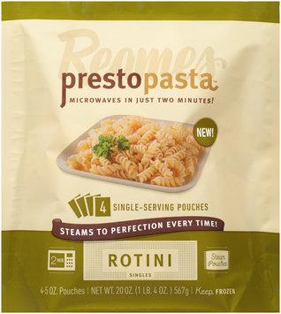Reames® Presto Pasta™ Steam Pouches Rotini Singles 4-5 oz. Pouches