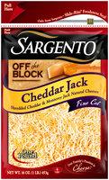 Sargento® Off the Block Fine Cut Shredded Cheddar Jack Cheese 16 oz.