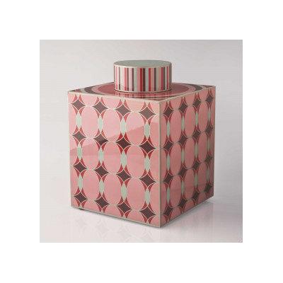 Piling Palang Geometric Lacquer Tea Caddy