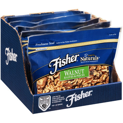 Fisher® Chef's Naturals® Walnut Halves & Pieces 16 oz. Stand-Up Bag