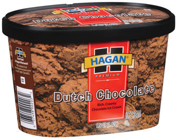 Hagan Dutch Chocolate Ice Cream 1.5 Qt Carton
