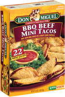 Don Miguel® BBQ Beef Mini Tacos 22 ct Box