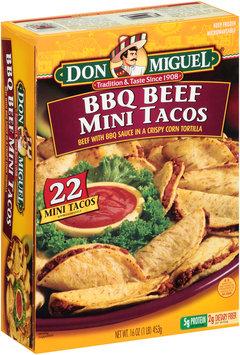 Don Miguel® BBQ Beef Mini Tacos 22 ct Box