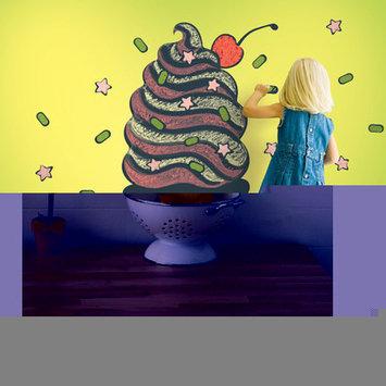 Wall Candy Arts WallCandy Arts Chalkboard Ice Cream Cone Wall Decal Kit
