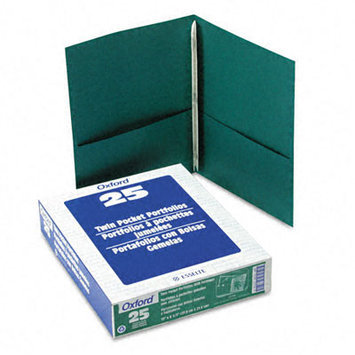 Esselte Pendaflex Corporation ESS57756 Twin Pocket Portfolio- w-Fstnrs- 11in. x8.50in- Hunter Green