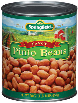 Springfield Fancy Pinto Beans 30 Oz Can