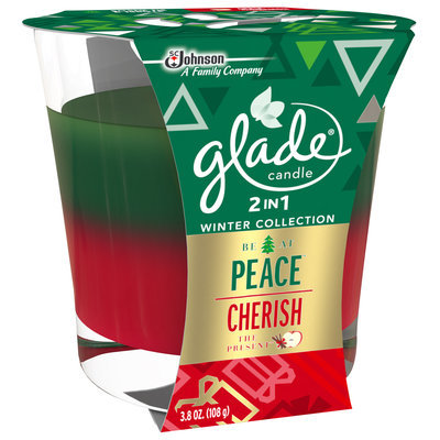 Glade® 2-in-1 Be At Peace™ & Cherish The Present™ Air Freshener Candle 3.8 oz. Jar