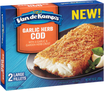 Van de Kamp's® Garlic Herb Cod Fillets 2 ct Box