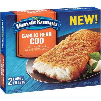 Van de Kamp's® Garlic Herb Cod Fillets 2 ct Box