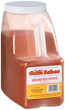 Gran Sabor Ground Red Pepper 4.5 lb. Jug