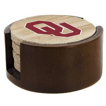 Thirstystone TSUOK2-H92 Thirstystone Natural Sandstone Coasters- Set of 4- University of Oklahoma Gift Set - H92