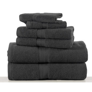 Affinity Linens Bano Senses 600 GSM Egyptian Cotton 6 Piece Towel Set, Gray