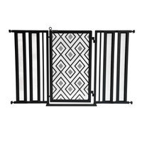 Fusiongates Diamonds Pet Gate Finish: Black, Size: 36