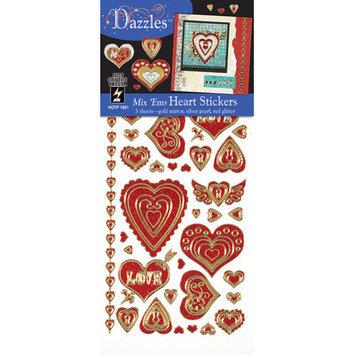 Dazzles Heart Stickers